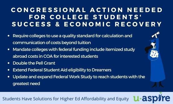 Congressional Action Needed for College Students' Success & Economic Recovery