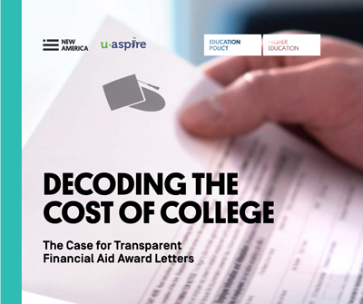 "uAspire and New America Release ""Decoding the Cost of College"""