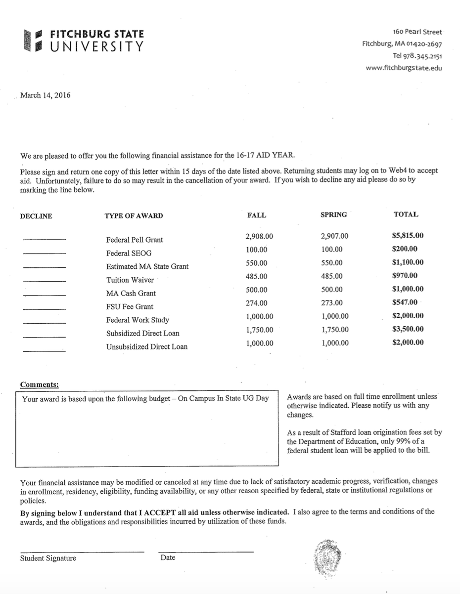 Financial Assistance Letter Sample from www.uaspire.org